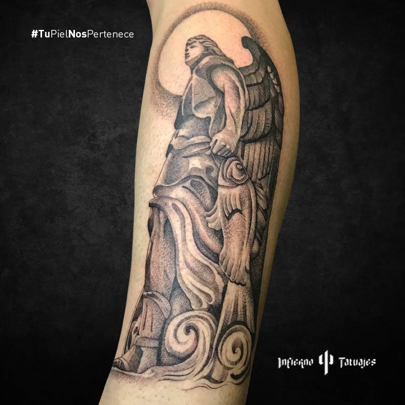 tatuaje de ángel, tatuajes de ángeles, ideas de tatuajes ángel, infierno tatuajes, estudio de tatuajes df