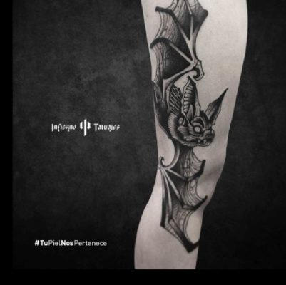 Tatuaje de murcielago