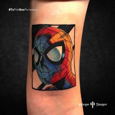 tatuaje de spiderman