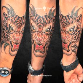 tatuaje de tigre, tatuajes de animales salvajes, tatuajes en el brazo, mejores estudios para tatuarme, infierno tatuajes