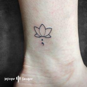 Tatuaje flor de loto – Creado por Paula   Infierno Tatuajes