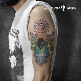 Tatuaje de mazorca de maíz – Creado por Paula   Infierno Tatuajes