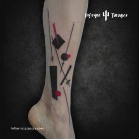 Suprematism art tattoo – Creado por Javier Gaona | Infierno Tatuajes