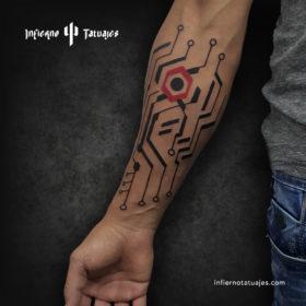 Metro Line – Creado por Javier Gaona | Infierno Tatuajes