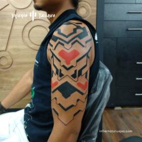 Tecno tattoo – Creado por Javier Gaona | Infierno Tatuajes