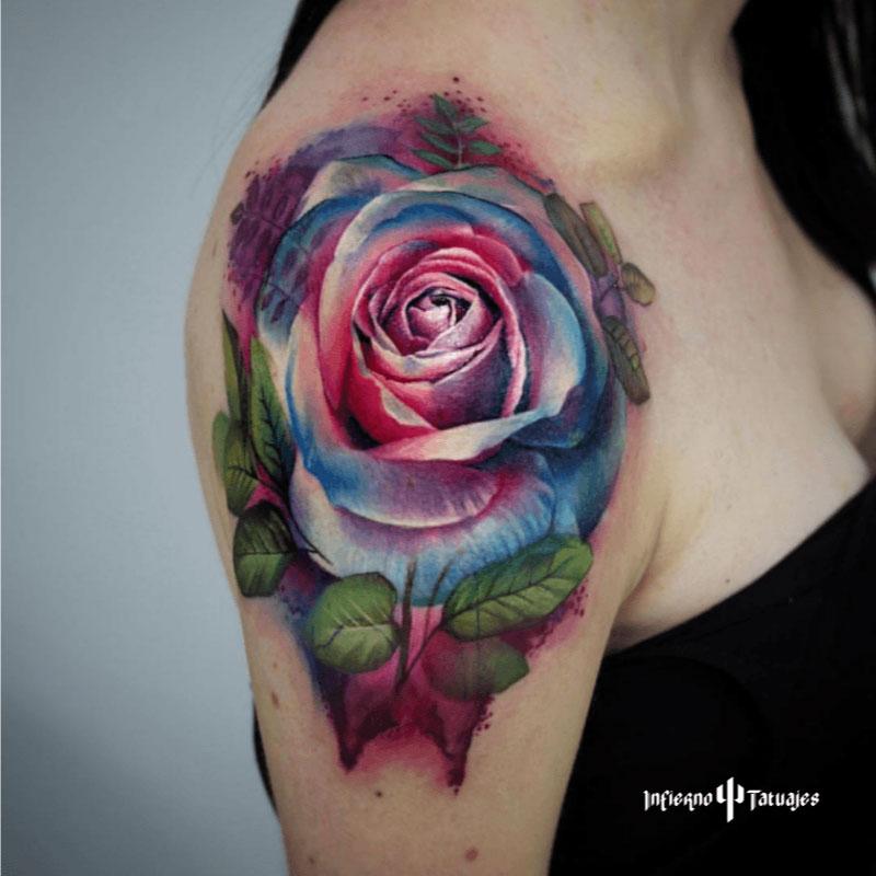 el origen de los tatuajes de acuarela
