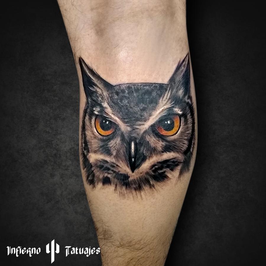 tatuajes de animales - buho