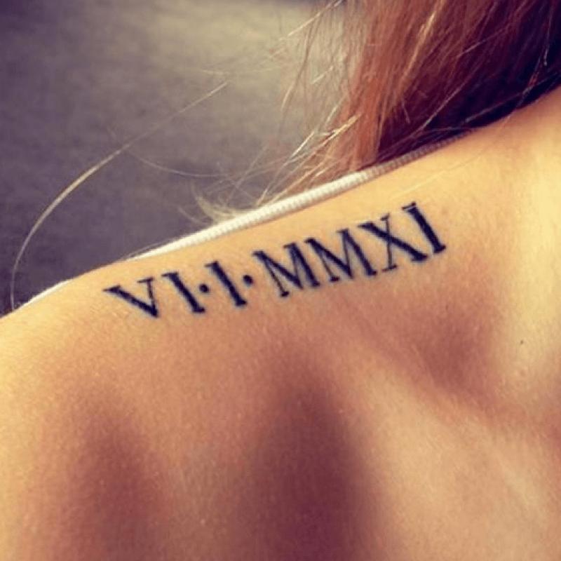 tatuaje con fechas