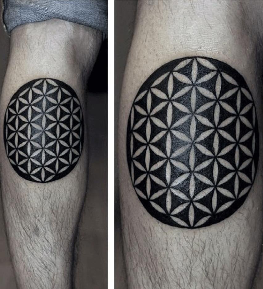 tatuaje flor de la vida