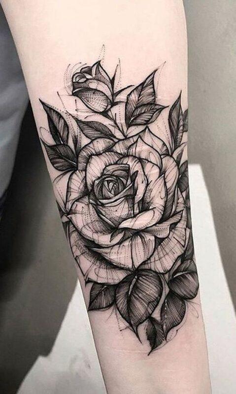 tatuaje de rosa y blanco infierno tatuajes