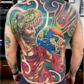 tatuaje de dios chris infierno tatuajes