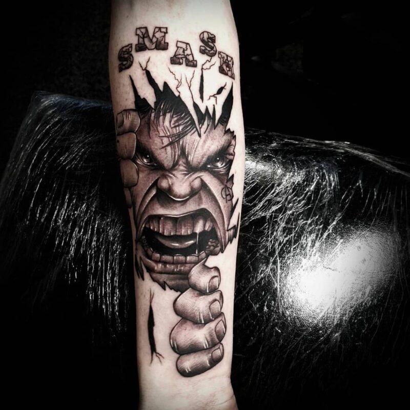 Tatuaje de Hulk