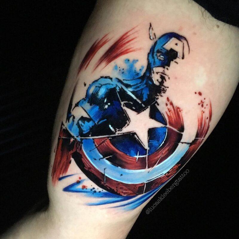 Tatuaje de capitán américa