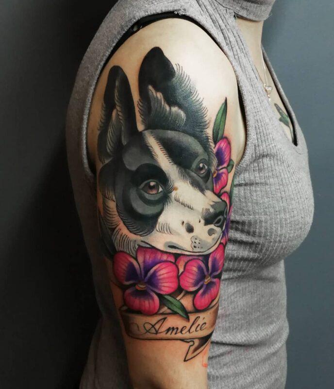 tatuajes de perritos con gran personalidad