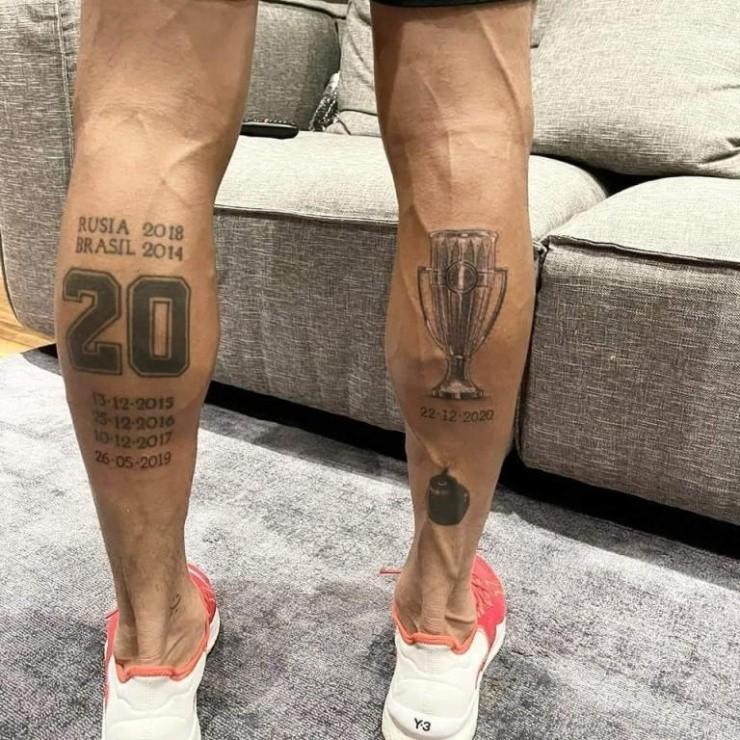 Tatuajes de futbolistas mexicanos