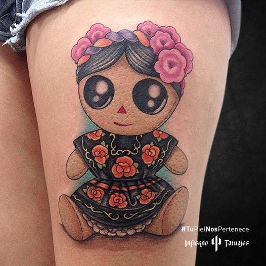 Tatuaje de muñeca María