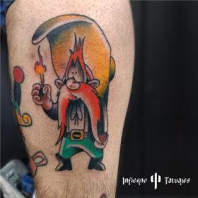 tatuaje tradicional sam bigotes a color, mejores estudios de tatuaje